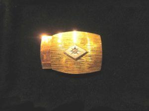 K18Pt850 ダイヤモンド付バックル
