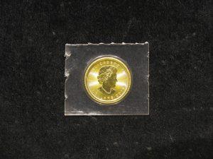 貴金属「K24C メイプルリーフ金貨 1/10oz」買い取りました!